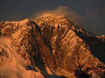 Everest – looking good at sunset