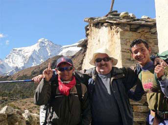 Mark with his trekking mates